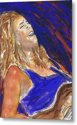 Waited For June A Portrait Of Megan Burtt Metal Print by Charles Snyder