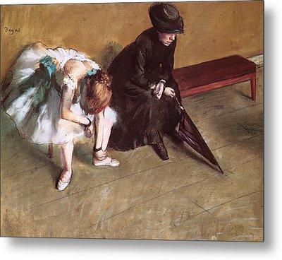 Waiting Metal Print by Edgar Degas