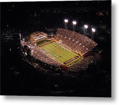 Wake Forest Aerial View Of Bb And T Field Metal Print by John Grogan