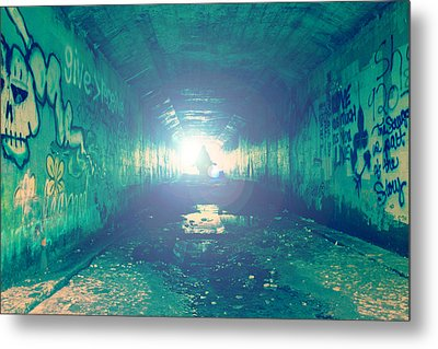 Metal Print featuring the photograph Walk In The Light by Joel Witmeyer