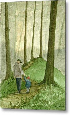 Walk In The Woods Metal Print by Sean Seal
