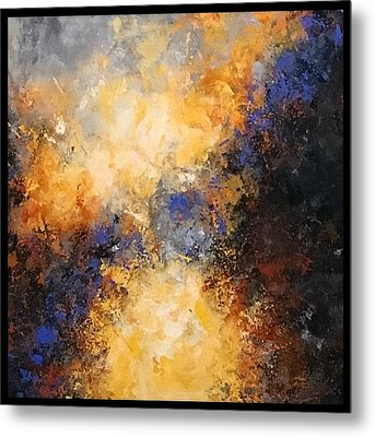 Walking Towards The Light Metal Print by Suzzanna Frank