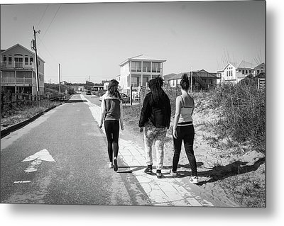 Walking With Friends Metal Print