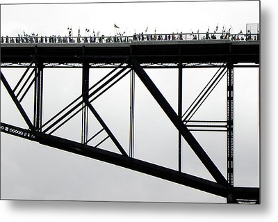 Walkway Over The Hudson No 11  Opening Day 2009 Metal Print by Joseph Duba