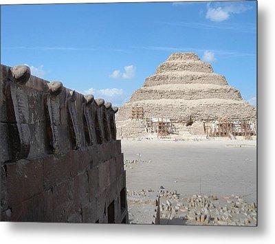 Wall Of Cobras At The Step Pyramid Metal Print
