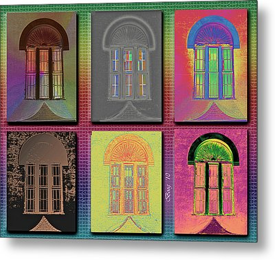 Metal Print featuring the photograph Wall Of Windows by Larry Bishop
