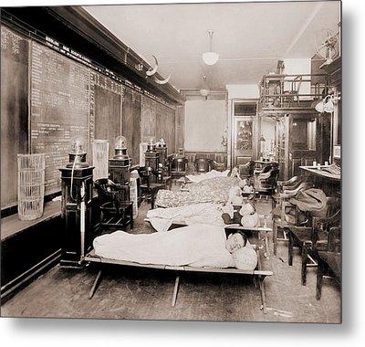 Wall Street Clerks Sleeping In Office Metal Print