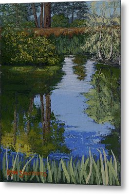 Waller Park Pond Metal Print by Ron Smothers