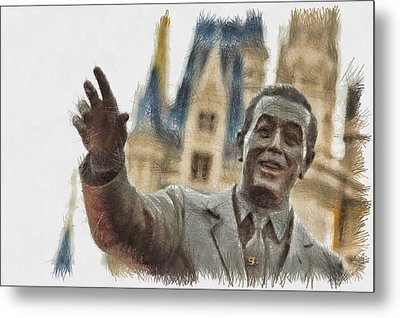 Walt - Sketch Metal Print