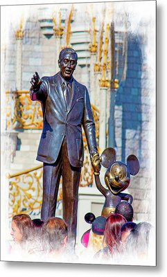 Metal Print featuring the photograph Walt And Mickey by Mark Andrew Thomas