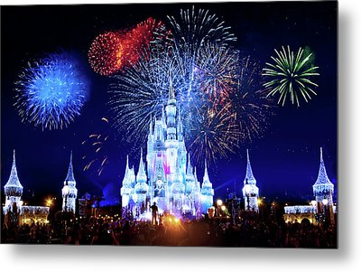 Walt Disney World Fireworks  Metal Print