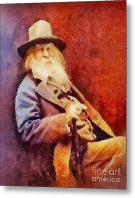 Walt Whitman, Literary Legend Metal Print by Sarah Kirk