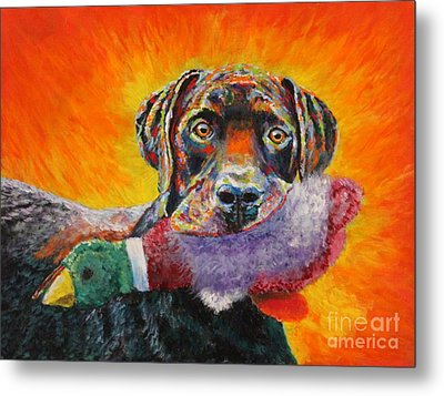 Wannabe Retriever Great Dane Metal Print