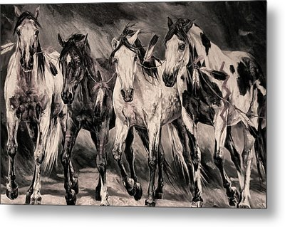 War Horses Metal Print by Dennis Baswell