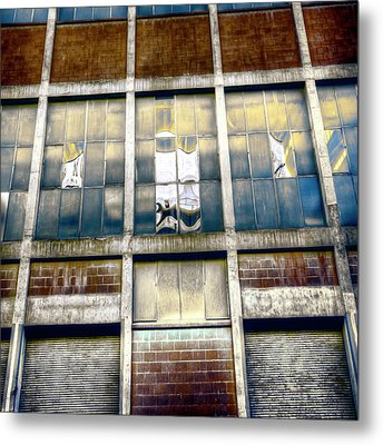 Metal Print featuring the photograph Warehouse Wall by Wayne Sherriff