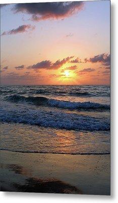 Warm Atlantic Sunrise Metal Print