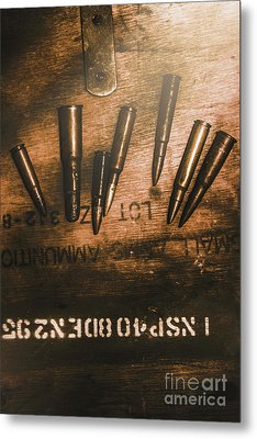 Wars And Old Ammunition Metal Print