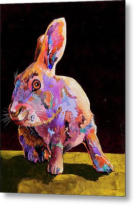 Metal Print featuring the painting Wary by Bob Coonts