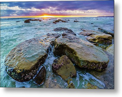Washed By The Water Metal Print