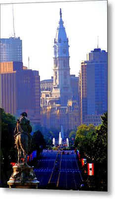 Washington Looking Over To City Hall Metal Print by Bill Cannon