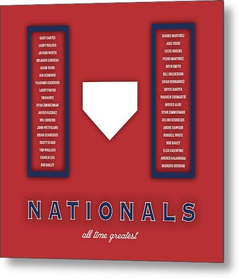 Washington Nationals Art - Mlb Baseball Wall Print Metal Print by Damon Gray