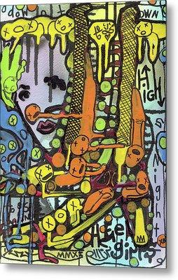 Watch Her Strut Metal Print by Robert Wolverton Jr