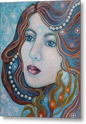 Metal Print featuring the painting Water Dreamer by Sheri Howe
