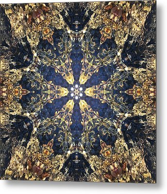 Metal Print featuring the mixed media Water Glimmer 3 by Derek Gedney