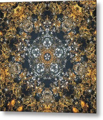 Metal Print featuring the mixed media Water Glimmer 5 by Derek Gedney