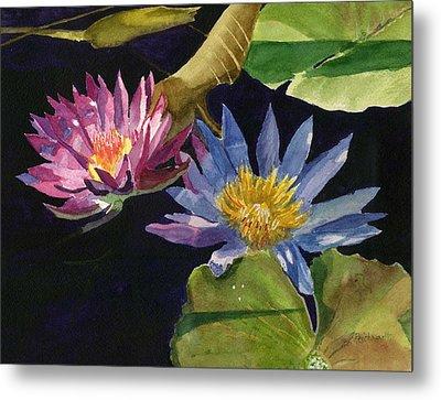 Water Lilies Metal Print by Lynne Reichhart