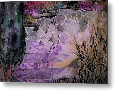 Metal Print featuring the painting Water Sprite by Mindy Newman