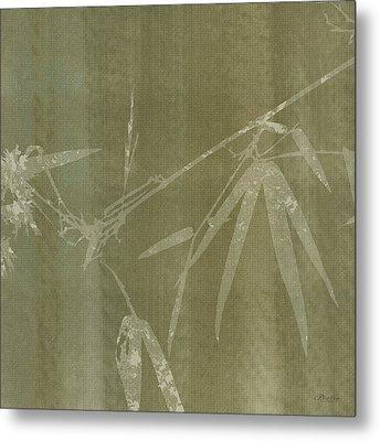 Watercolor Bamboo 01 Metal Print