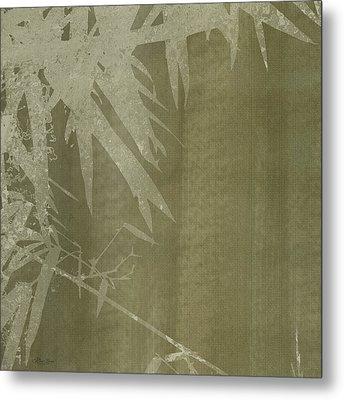 Watercolor Bamboo 02 Metal Print