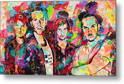 Watercolor Coldplay Metal Print