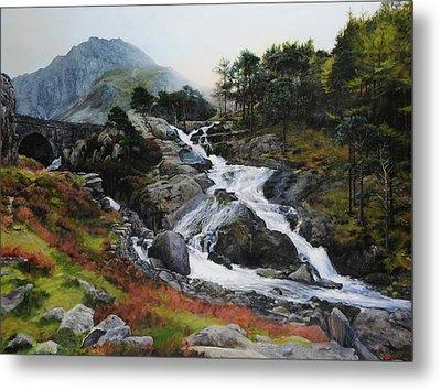 Waterfall In February. Metal Print