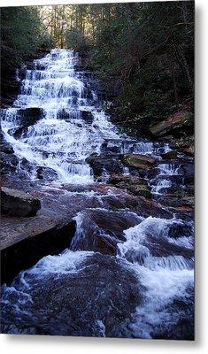 Waterfall In Georgia Metal Print by Angela Murray