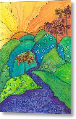 Waterfall Of Hope Metal Print by Tanielle Childers
