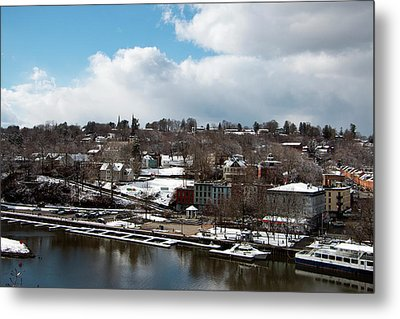 Waterfront After The Storm Metal Print by Jeff Severson