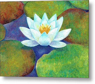 Metal Print featuring the painting Waterlily by Elizabeth Lock