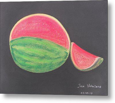 Watermelon Metal Print by M Valeriano