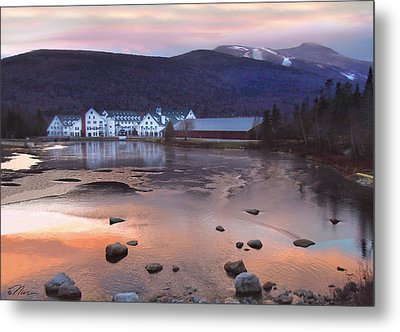 Waterville Valley Sunset Metal Print by Nancy Griswold