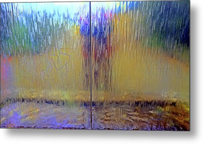 Metal Print featuring the photograph Watery Rainbow Abstract by Nareeta Martin