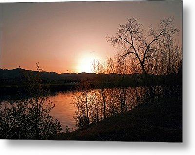 Watson Lake At Sunset Metal Print by James Steele