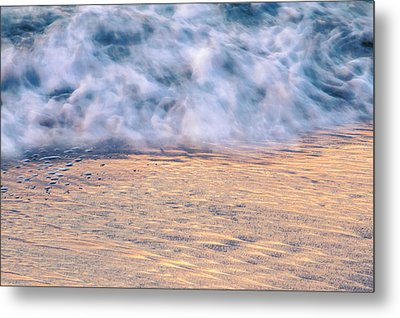 Metal Print featuring the photograph Wave Abstract 3, Hoi An, 2014 by Hitendra SINKAR