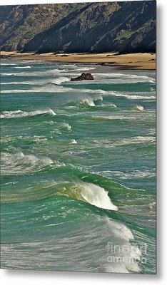 Wave Action Metal Print