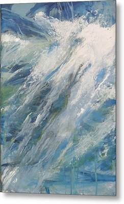 Metal Print featuring the painting Wave by John Fish