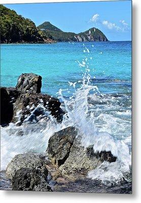 Waves And Water Metal Print