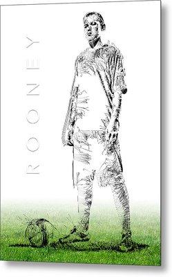 Wayne Rooney Metal Print by ISAW Gallery