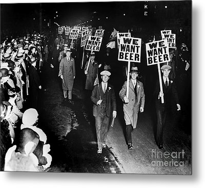 We Want Beer Metal Print by Jon Neidert