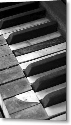 Weathered Music Metal Print